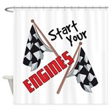 Race car Shower Curtains