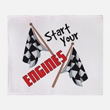 Start Your Engines Throw Blanket