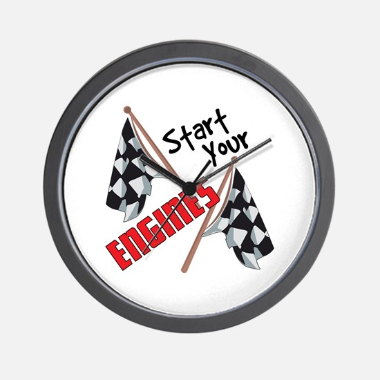Start Your Engines Wall Clock