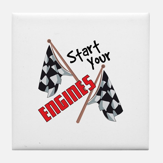 Start Your Engines Tile Coaster