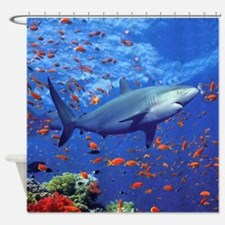 Colorful Shark Shower Curtain