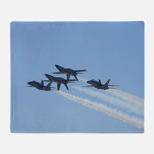 Blue Angels over Texas Throw Blanket