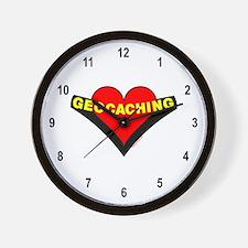 Geocaching Heart Wall Clock
