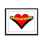 Geocaching Heart Framed Panel Print
