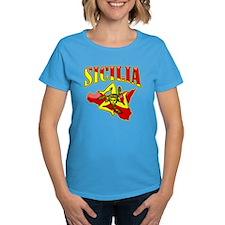 Sicilia Sicilian T-Shirts Trinacria Tee