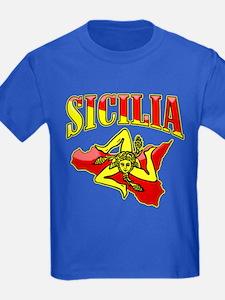 Sicilia Sicilian T-Shirts Trinacria T