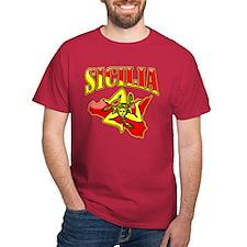 Sicilia Sicilian T-Shirts Trinacria T-Shirt