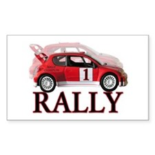 ...Rally Red... Rectangle Decal