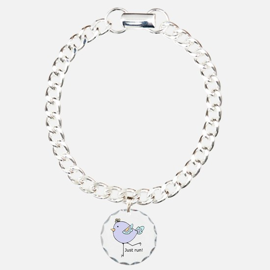 Just Run Runner's Quote Charm Bracelet, One Ch
