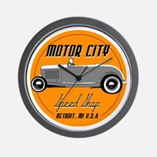 Motor City SpeedShop Custom HotRod Wall Clock
