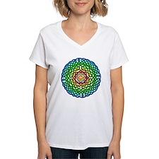 Celtic Rainbow Knot Women's V-Neck T-Shirt