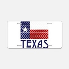 Chevron Texas Aluminum License Plate