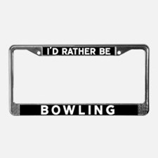 Cute Bowling lover License Plate Frame