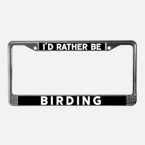 Cute Bird watchers License Plate Frame