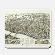 Antique US Maps-Springfield 1 Mousepad