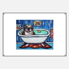 English Bulldog Bathtime Banner