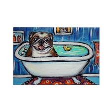 English Bulldog Bathtime Magnets