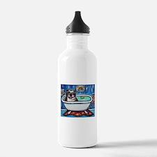 English Bulldog Bathtime Water Bottle