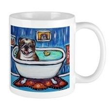 English Bulldog Bathtime Mugs