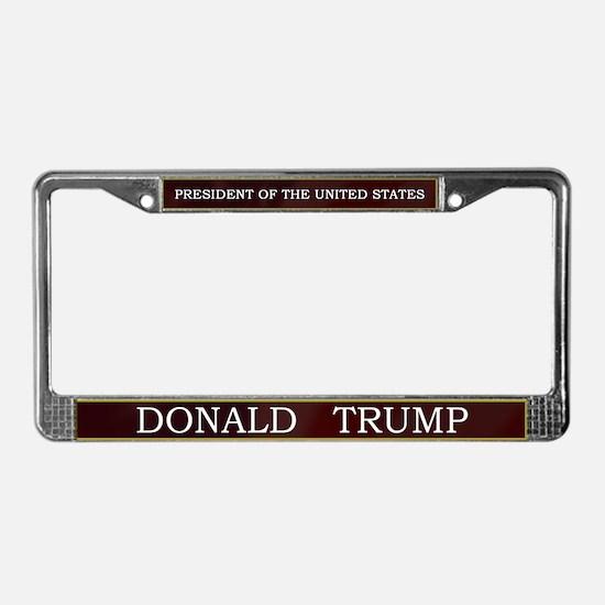 Donald Trump for President V3 License Plate Frame
