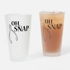 Oh, Snap Thanksgiving Wishbone Drinking Glass