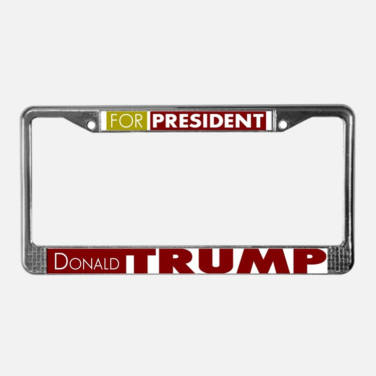 Donald Trump for President V1 License Plate Frame