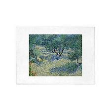 Vincent Van Gogh Olive Orchard 5'x7'Area Rug