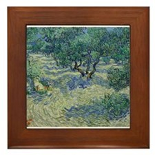 Vincent Van Gogh Olive Orchard Framed Tile