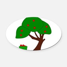 Apple Tree Oval Car Magnet