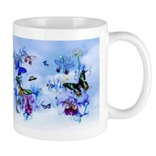 Vintage Butterflies, Orchids Bees Mugs