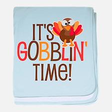 It's Gobblin' Time! baby blanket