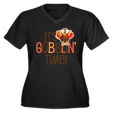 It's Gobblin Women's Plus Size V-Neck Dark T-Shirt