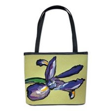 Iris Flower Art Painting Bucket Bag