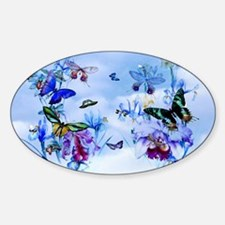 Vintage Butterflies, Orchids Bees Decal