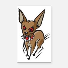Loco Chihuahua Rectangle Car Magnet