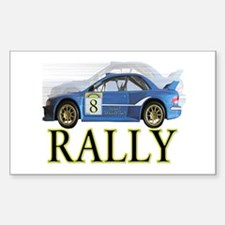 ...Rally Blue... Rectangle Decal