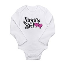 Yaya's Girl Long Sleeve Infant Bodysuit