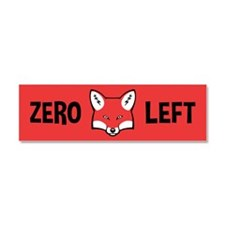 Zero Fox To Give Car Magnet 10 x 3