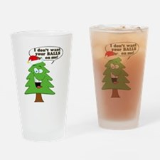 Christmas Tree Harassment Drinking Glass