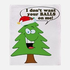 Christmas Tree Harassment Throw Blanket