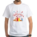 Happy 4th of july Mens White T-shirts