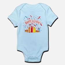 Happy July 4th Picnic Infant Bodysuit