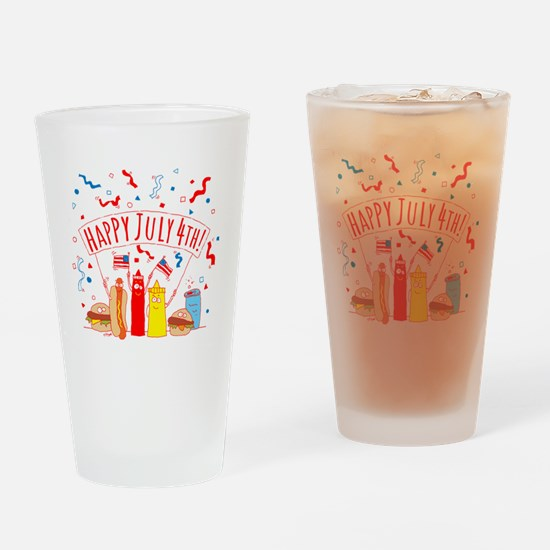 Happy July 4th Picnic Drinking Glass