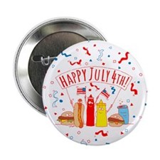 "Happy July 4th Picnic 2.25"" Button"