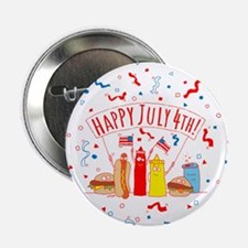 """Happy July 4th Picnic 2.25"""" Button (10 pack)"""