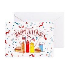 Happy July 4th Picnic Greeting Card