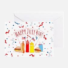 Happy July 4th Picnic Greeting Card