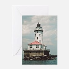 Chicago Navy Pier Lighthouse Greeting Cards