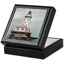 Chicago Navy Pier Lighthouse Keepsake Box