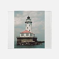 Chicago Navy Pier Lighthouse Throw Blanket